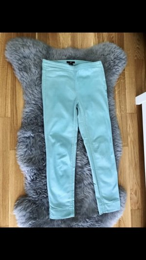 H&M Pantalón tobillero turquesa-verde grisáceo