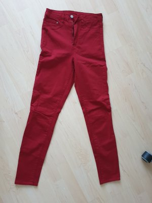 H&M Jeggings rojo oscuro