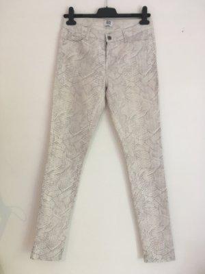 Vero Moda Pantalón de pinza alto color plata-blanco Algodón