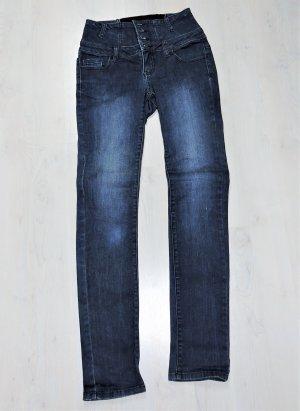 Arizona Pantalon taille haute bleu foncé coton