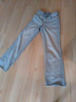 H&M Pantalon boyfriend bleu pâle
