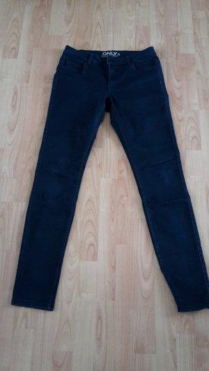 Only Pantalon strech bleu foncé