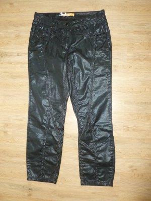 Biba Pantalone jersey nero-blu scuro