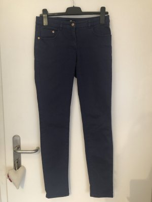 H&M Stretch Trousers dark blue