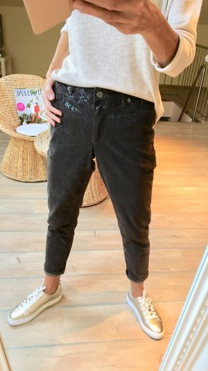 Madeleine Pantalón de cintura alta marrón oscuro-color bronce