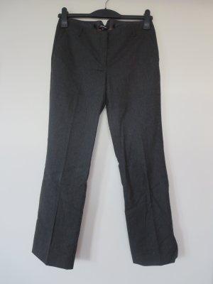 More & More Pantalon en jersey gris anthracite-noir tissu mixte