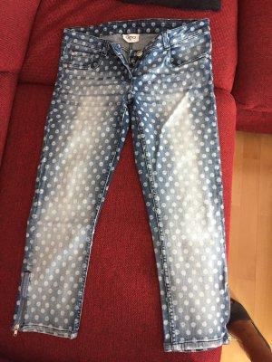 Pantalón tobillero azul acero-azul celeste