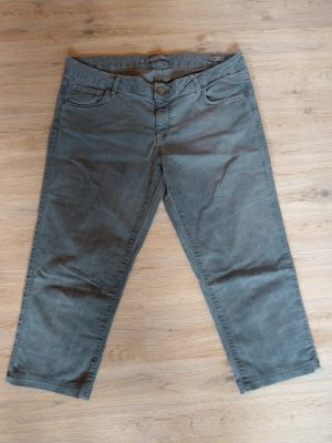 Hose Caprihose Jeans grün khaki Zara