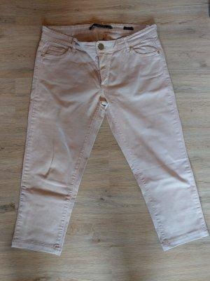 Hose Caprihose Jeans nude rosa Zara