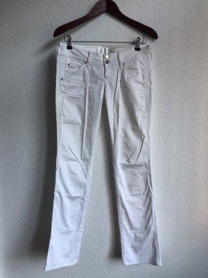 Guess Jeans Pantalon taille basse blanc-doré