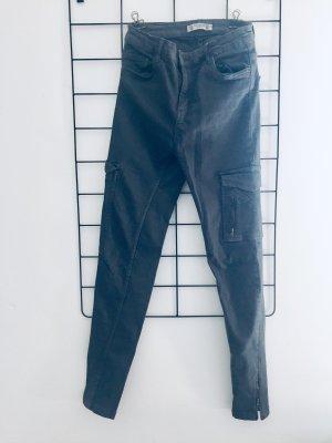 Pull & Bear Pantalone a vita bassa grigio