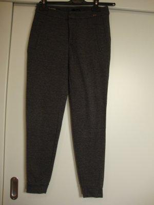 Cinque Pantalone elasticizzato bianco-antracite Tessuto misto