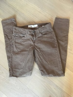 H&M Pantalone di velluto a coste marrone chiaro-marrone