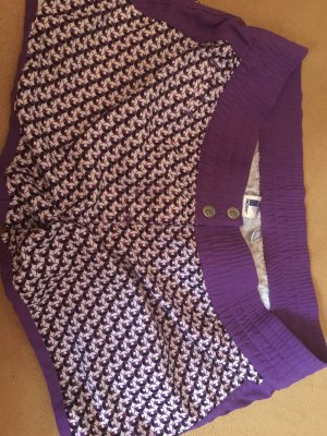 Protest Pantalón corto deportivo violeta oscuro-blanco puro