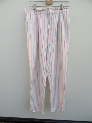 Vintage Pantalon large blanc