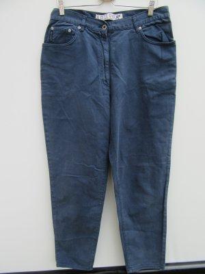 Vintage Pantalon cigarette bleu foncé