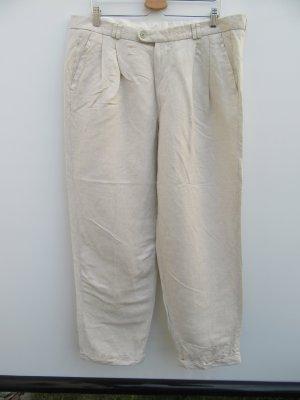 Vintage Linnen broek zandig bruin