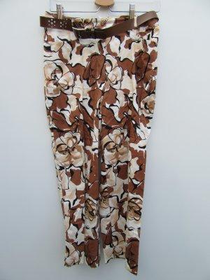 Hose Damen Vintage Retro braun mit Gürtel Gr. 40