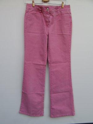 Vintage Broek met wijd uitlopende pijpen roze