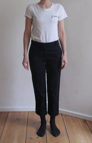 COS Pantalón tobillero azul oscuro Algodón