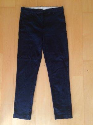H&M Pantalón de pinza alto azul oscuro