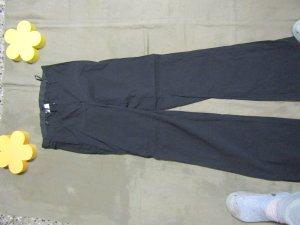 Sheego Pantalón elástico negro tejido mezclado