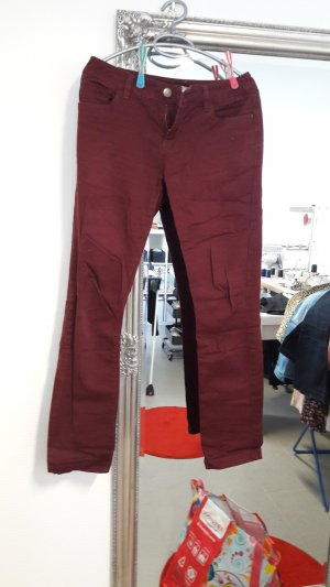 Koton Stretch Trousers dark red