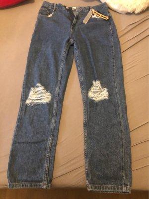Tally Weijl Hoge taille broek donkerblauw