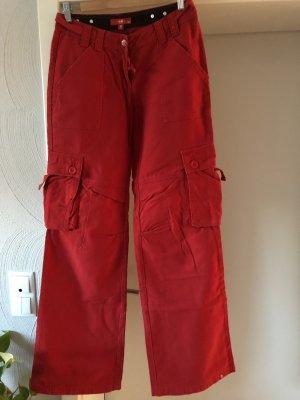 edc by Esprit Pantalon «Baggy» rouge-rouge brique