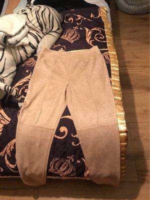 100% Fashion Pantalón pitillo beige claro