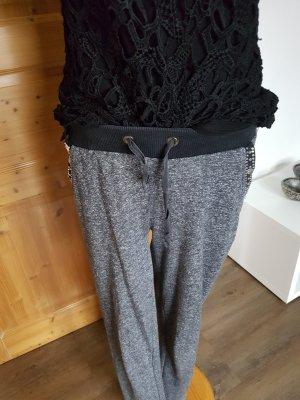 Pantalon de jogging blanc-noir
