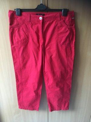 Bonita Pantalon 7/8 rouge foncé coton
