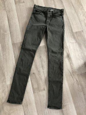 Hennes Collection by H&M Pantalon cigarette gris vert-kaki