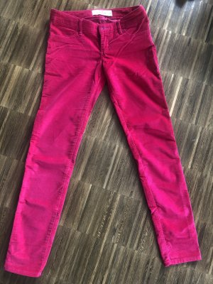 Hollister Corduroy Trousers pink-magenta