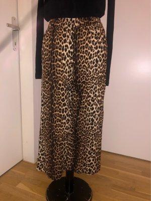 H&M Pantalone culotte nero-marrone