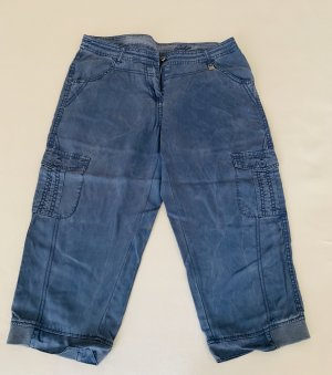 Cecil Capris steel blue cotton