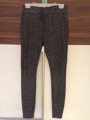 Amisu Pantalone peg-top nero-argento