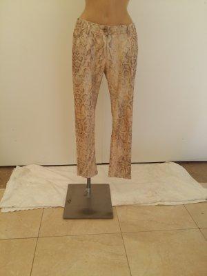Airfield Pantalone a vita bassa crema Cotone