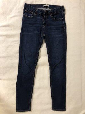 Zara Pantalone a sigaretta blu scuro