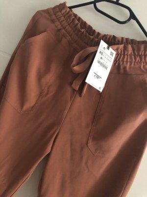 Zara Pantalone a 3/4 rosso chiaro
