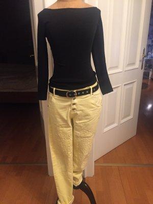 Pantalone a 7/8 giallo pallido