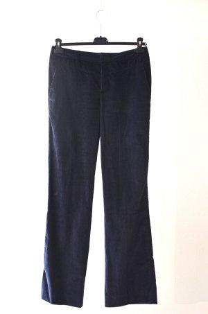 Strenesse Pantalon en velours côtelé bleu foncé coton