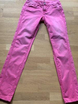 Buena Vista Drainpipe Trousers pink cotton