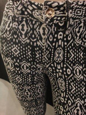 Hose Fornarina Eva Jeans Skinny schwarz weiss  W 26  Gr. 34/36