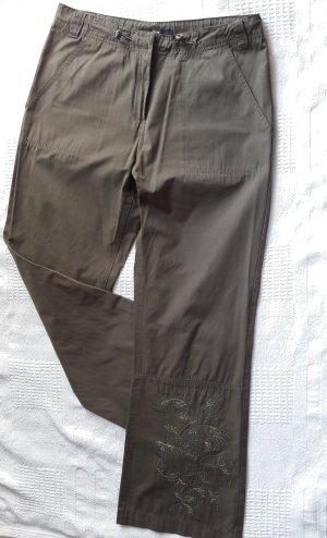 Tchibo / TCM Pantalón de color caqui verde oliva-caqui tejido mezclado