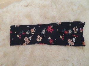 Hose gerade toller Blumenprint blaugrundig bunt von Zara in Groesse L