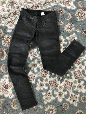 Hose Glitzer Jeans Schwarz H&M Gr. S / 36