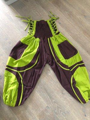 Pantalon large brun foncé