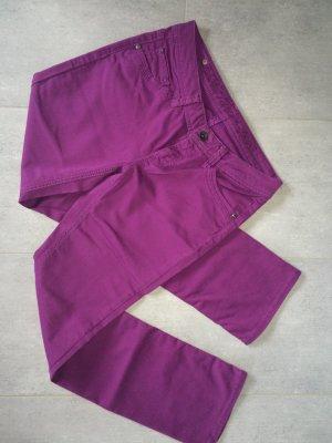 Esprit Lage taille broek violet Katoen
