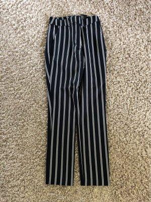 H&M Pantalón de pinza alto blanco-azul oscuro